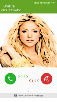 Call from Shakira screenshot 1