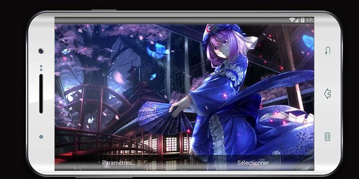 Live Wallpaper of Yuyuko Saigyouji  Anime screenshot 9