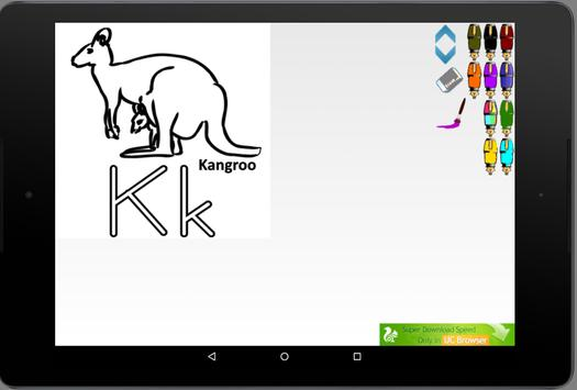 Learn alphabets coloring book apk screenshot