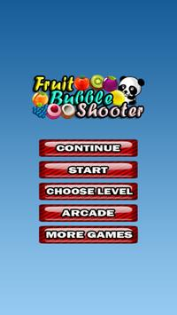 Fruit Bubble Shooter Panda poster