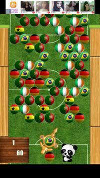 Soccer Bubble Shooter Panda poster