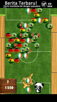 Soccer Bubble Shooter Panda apk screenshot