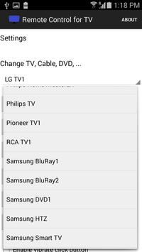Remote Control for TV - Cable apk screenshot