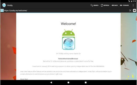 YAABy Browser apk screenshot