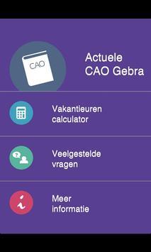 CAO Gebra poster