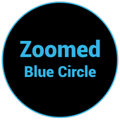 Zoomed Blue Circle icon