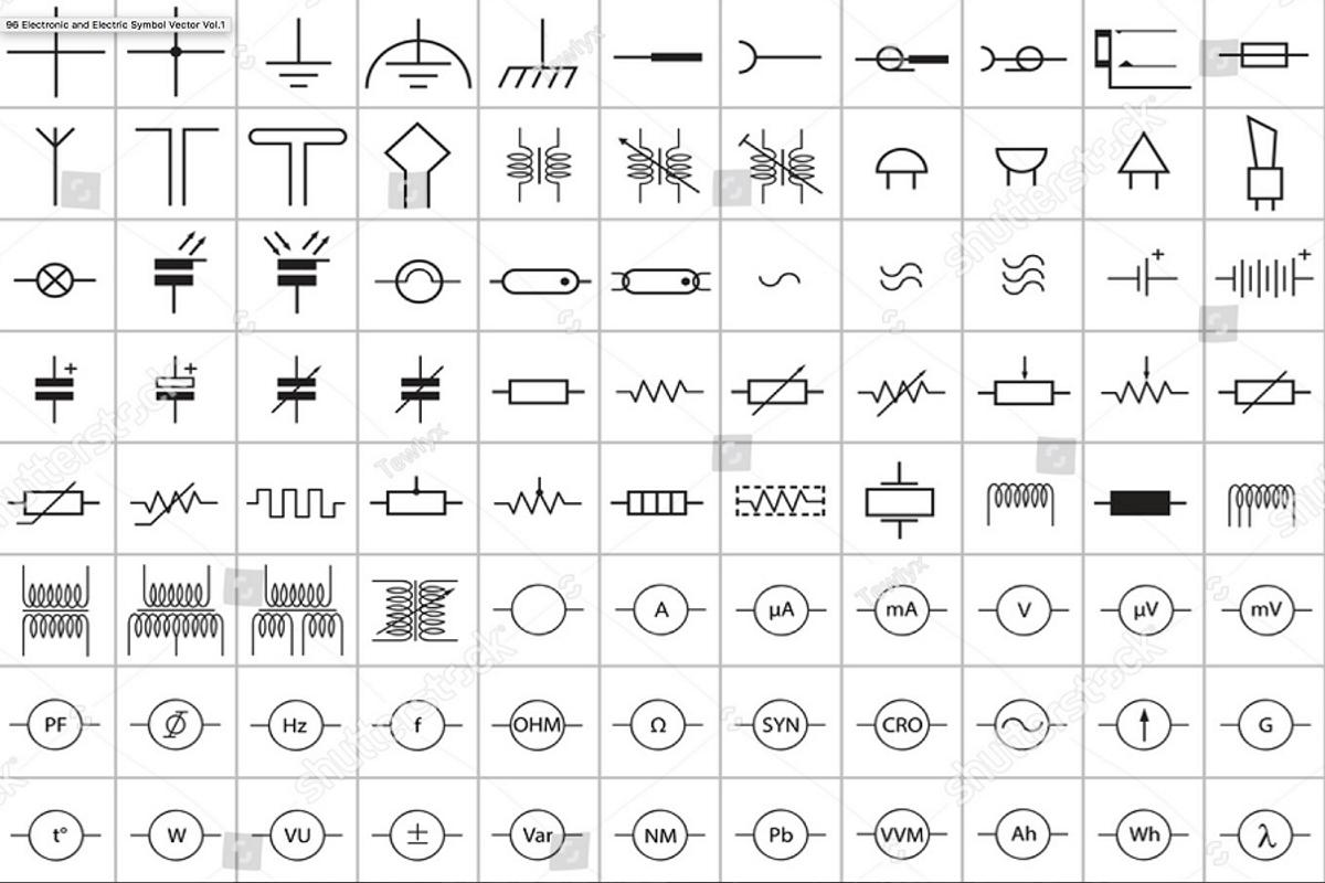 Summary Common Electrical Symbols Cmh Software