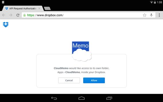 CloudMemo apk screenshot