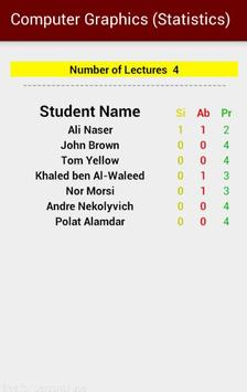 Students Attendance Demo apk screenshot