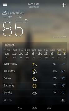 Yahoo Weather apk screenshot