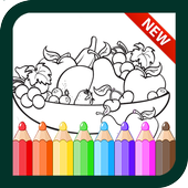 Fruit Vegetables coloring book for Kids icon