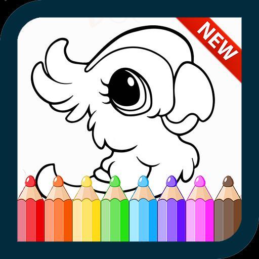 980 Gambar Binatang Kartun Untuk Diwarnai Terbaru