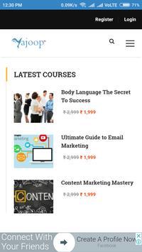Yajoop Online Courses screenshot 1