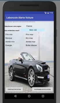 Alerte Voiture de Leboncoin France poster
