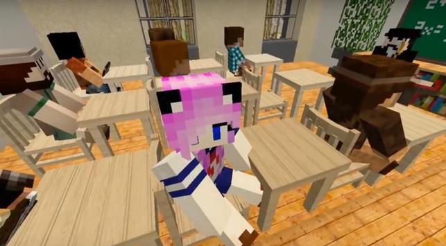 Yandere School for Minecraft poster
