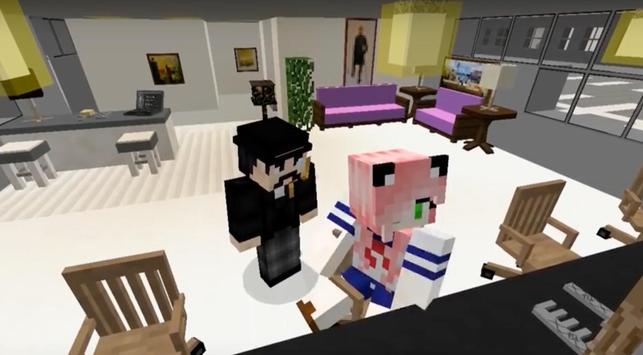 Yandere School for Minecraft apk screenshot
