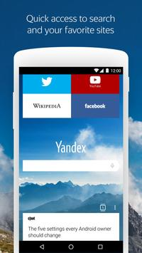 Yandex Browser with Protect poster
