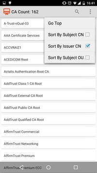 CA Certificates on Android screenshot 1