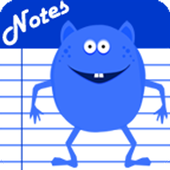 Notes - Blue Monster Cute icon
