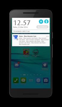 Notes - Blue Monster Cute apk screenshot