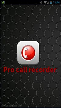 Pro Call Recorder 2016 apk screenshot