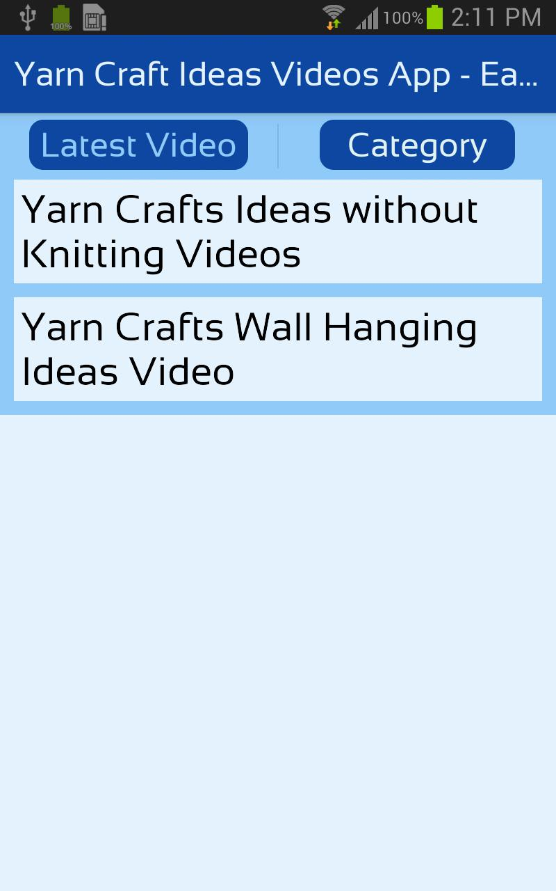 Yarn App Pictures
