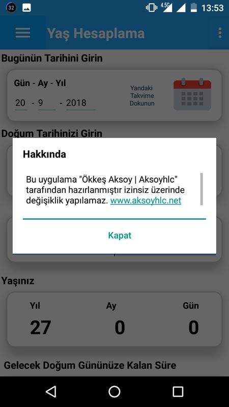 Yaş Hesaplama Aracı For Android Apk Download