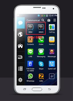 Dual BBM New Clone BB apk screenshot