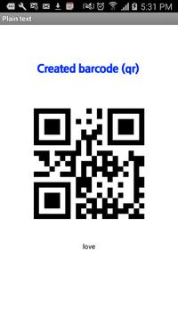 (R) barcode scanner /QR reader apk screenshot
