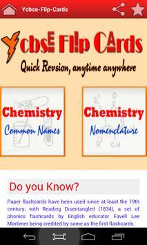 Chemistry Flip Cards poster