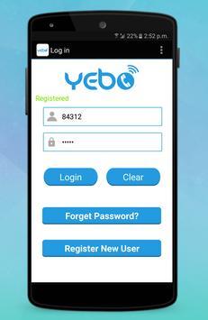 Yebo screenshot 1