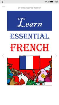 Learn Essential French poster