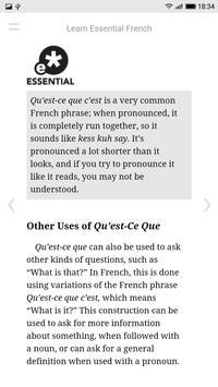 Learn Essential French apk screenshot