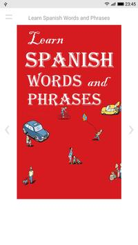 Learn Spanish Words and Phrases poster