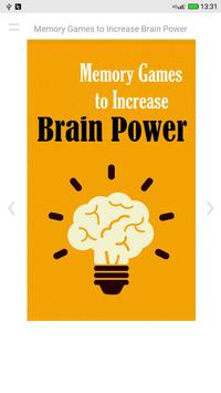 Memory Games to Increase Brain Power poster