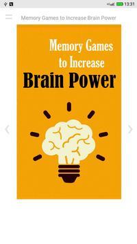 Memory Games to Increase Brain Power apk screenshot