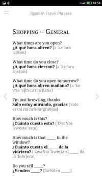 Spanish Travel Phrases apk screenshot