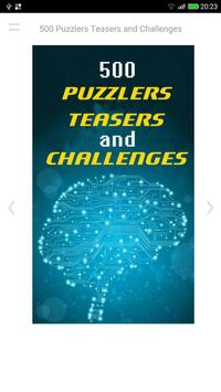 500 Puzzlers Teasers and Challenges apk screenshot