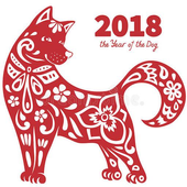Chinese New Year 2018 Greeting Cards icon