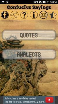 Confucius Sayings poster