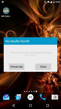 NRC Public Meetings apk screenshot