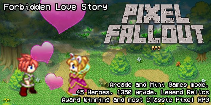 Pixel Fallout RPG poster