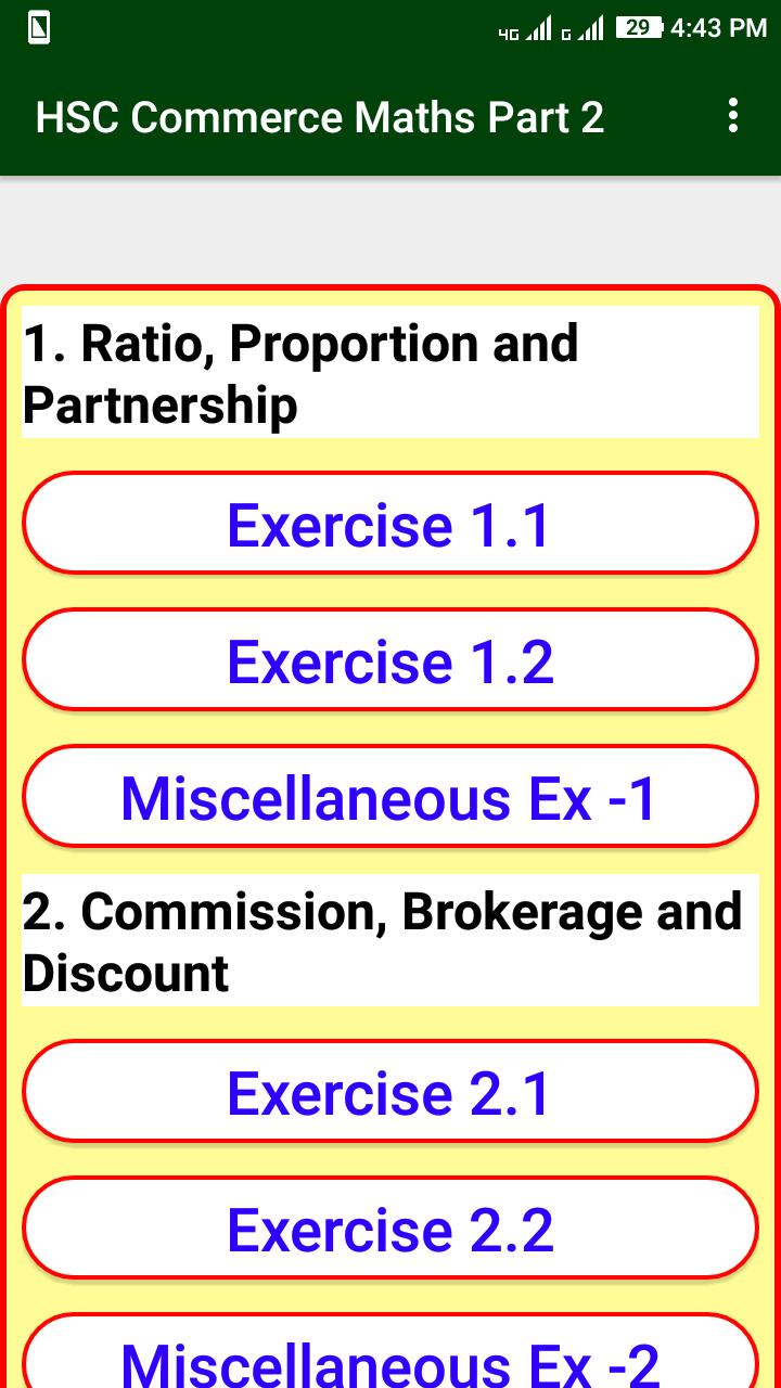 Commerce Maths Part 2 Solution For 12th HSC Board for Android - APK