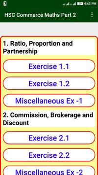 Commerce Maths Part 2 Solution For 12th HSC Board poster