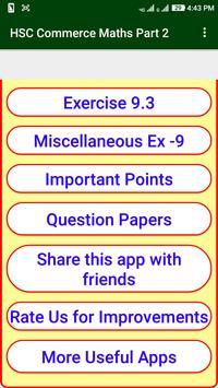 Commerce Maths Part 2 Solution For 12th HSC Board apk screenshot