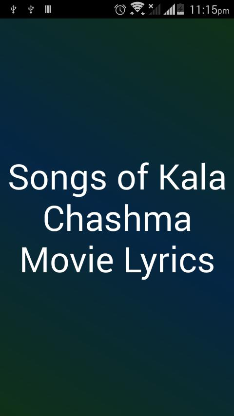 Songs of Kala Chashma Lyrics for Android - APK Download