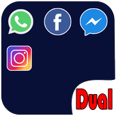 Dual Space (Multiple Space) Multiple account 2018 icon