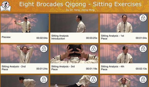 Eight Brocades Qigong Sitting poster