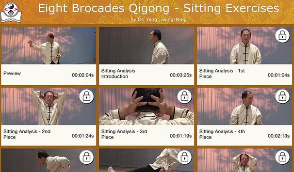 Eight Brocades Qigong Sitting poster