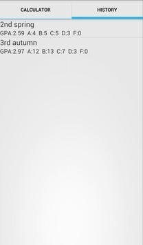 GPA calculator apk screenshot